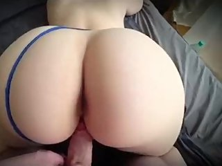 Step mom fuck and bounce on cock till step son cums inside her pussy