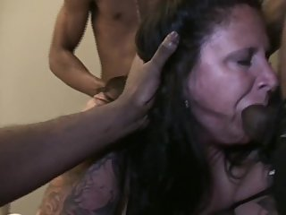 BBC Gangbang for slut MILF hotwife craving big black cock - Part 2