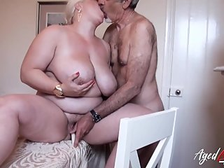 AgedLovE Busty Blonde Mature Recieving Hardcore