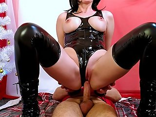 Mistress doing Blowjob, fucking and milking cock with vacuum pump