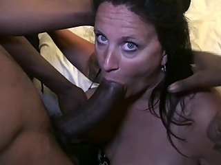 BBC Gangbang for slut MILF hotwife craving big black cock - Part 1
