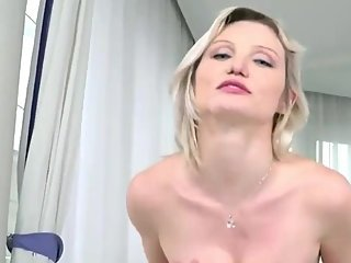 Slutty blonde wife gets hard fucked by her best friend