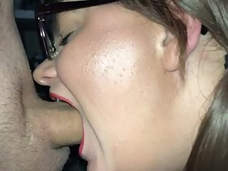 Naughty school girl deepthroats her teacher
