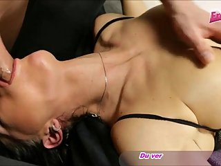 deepthroat with german milf and housewife mother