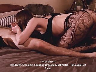 Handcuffs, Creampies and Fishnets - Trailer - FitCoupleLust