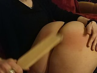 Chubby MILF get her big ass spanked