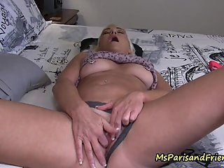 Taboo Step-Mommy Finger Fucks Her Pussy for Her Step-Son