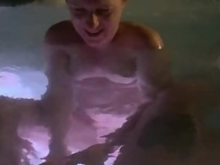 Mom gives step son a secret handjob in hot tub naked before dad home