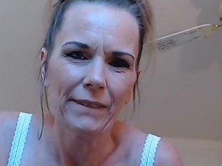 Sweet Stepmommy POV jerks your morning wood- Cum on my milf tits