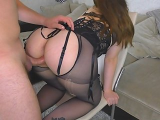 HOT School Teacher gets fucked her Big Ass and Huge Cum on Pussy