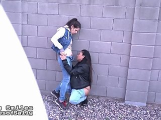Hot Lesbian Girlfriends Caught On Outdoor Cam by Stalker Voyeur