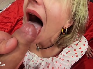Call MILF Sloppy Blowjob and Hard Doggy Anal - Cum Inside Closeup