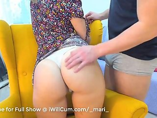 Thick PAWG Teen Gets Pussy and Anal Fingered by Boyfriend After School