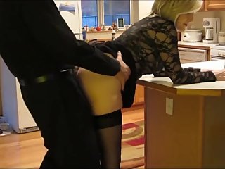 Naughty mature MILF gets hard fucked by her stepson on vacation