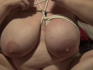 Karina playing with her HUGE Natural Tits