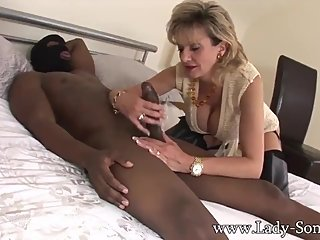Lady Sonia in long boots gets fucked