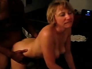 Mature Blonde Hotwife Loves BBC