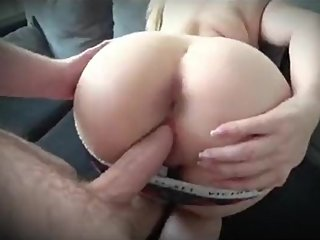 Stepson fucking stepmom through red panties while dad in bed