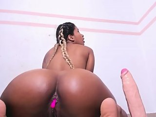 Thick and busty ebony. Nikki Minaj look a like. Part 3