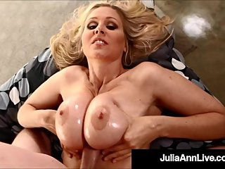 Titty Fucked Milf Julia Ann Milks Cock All Over Her Boobs!