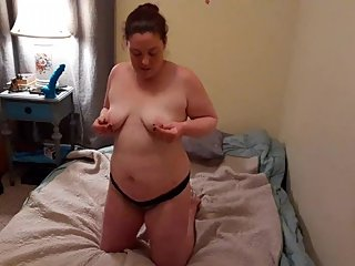 I Stripped Down and then Fucked Myself With my Big Blue Dildo