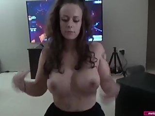 #24 Melody Radford AMATEUR BIG TIT Chubby Gamer Girl Gives Amazing Blowjob