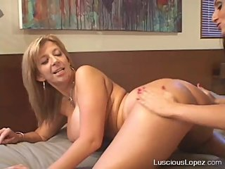 Luscious Lopea and Sara Jay stairway to heaven Lesbian