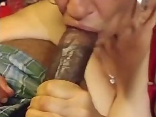 Milf mom sucks dick and swallows better than her daughter