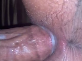 BIG BLACK DICK HITS PINK FAT WET PUSSY DOGGYSTYLE! CUMS ON ASS CHEEKS