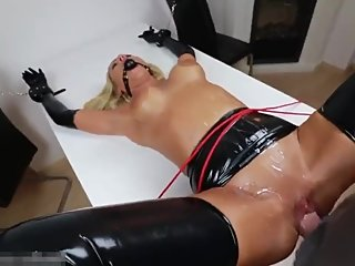 Pervert slut bound used in pussy ass mouth pissed and loves