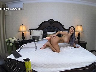 fuck machine with the lush toy in