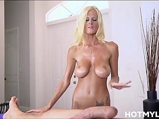 Big Tits Petite MILF Stepmom Sex Massage With Latino Stepson