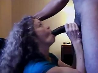 Curly Haired MILF Finally Deep Throats The BBC She Wanted
