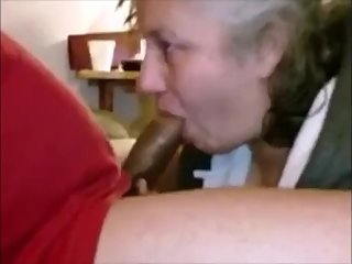 Grandma sucking bbc and get cum in mouth