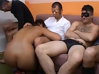 Italian wife shared with 5 men- hubby gets sloppy fitfhs