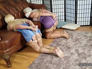 2360 Mouth Stuffing Gag & Boobs Out Hogtie for MILF Damsels in Distress!