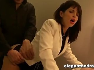 I FUCK MY FRENCH GIRL FRIEND IN THE TOILETS OF FOUQUET'S PARIS