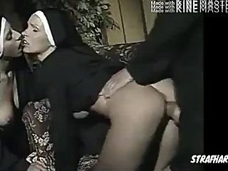 Watch two white nun get fucked
