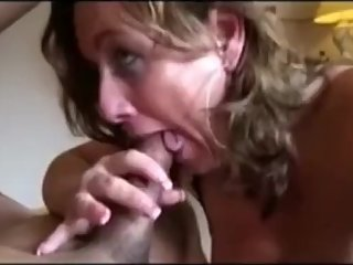 Mature hot wife sucking a bull dick and get facial