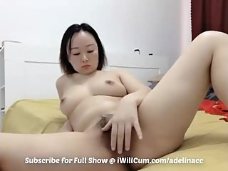 Big Butt Geeky Asian With FF Tits Caught Playing With Pussy on Cam