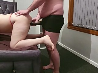 Step mom woke up step son for fuck and put him to lick pussy for orgasm