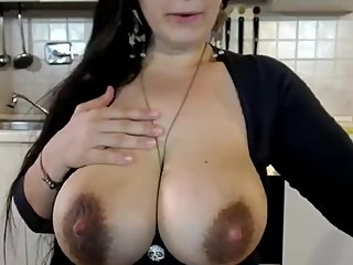 Dolce's tits are dripping sweet breast milk