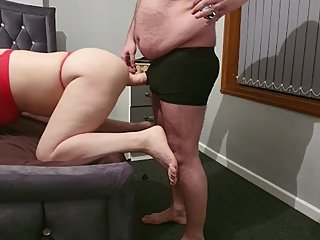Step mom can't take big cock from step son, there no fucking today -10 inch