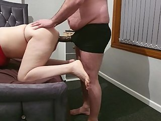 Step mom can't take 10 inch cock from step son cock , so no fuck