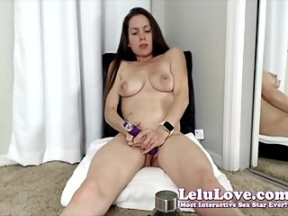 Lactating & masturbating on my webcam chatting before & after - Lelu Love