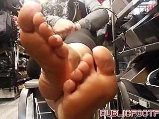 Smelling beautiful blonde milf meaty soles in public my video of the year
