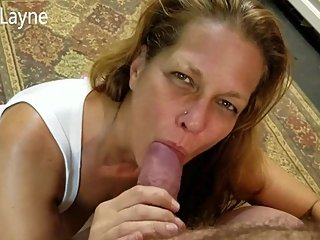 Hot Wife Swallows my Huge Cock!