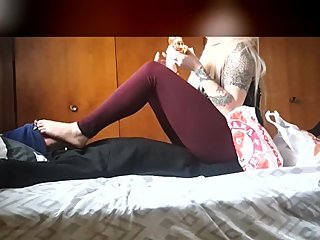 Femdom facesitting trampling with a SURPRISE ENDING!!!