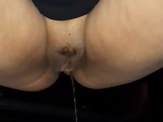 perfect pussy pissing on side of road