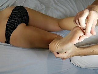 I Am Tickling MILF's Feet, Sexy Legs Massage ~DirtyFamily~